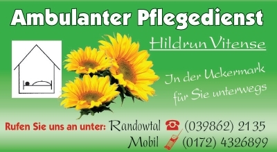 Ambulanter Pflegedienst Hildrun Vitense in Schmölln / Randowtal